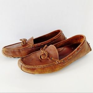 Cole Hann Leather Gunnison Driver Moccasin